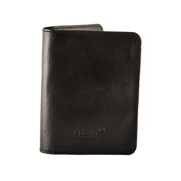 Escape Society Genuine Leather Passport Holder | Black