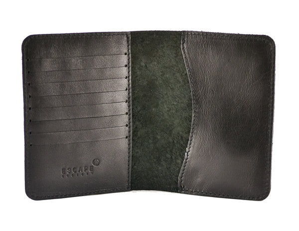 Escape Society Genuine Leather Passport Holder | Black - KaryKase