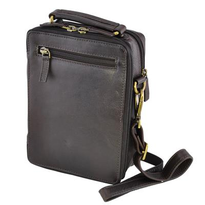 1e2a40f41b25 Busby Washed Havanna Leather Unisex Bag - Large