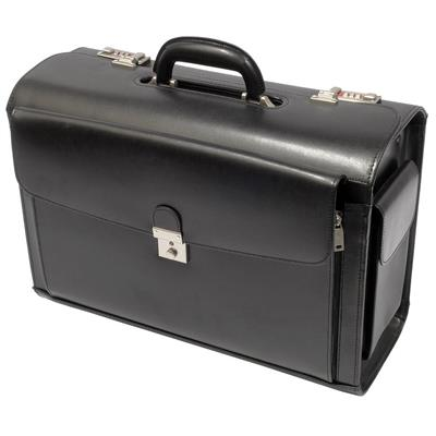 Busby Cerus Bonded Leather Pilot Case | Black - KaryKase