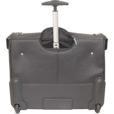 Busby Eurus Leather Suiter Bag On Wheels | Black - KaryKase