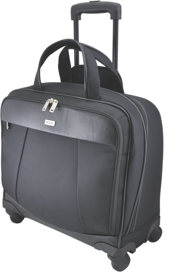 Busby Executive Business Laptop Trolley Bag | Black