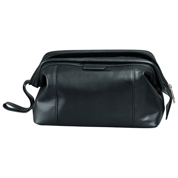 Busby Florida Leather Toiletry Bag | Black