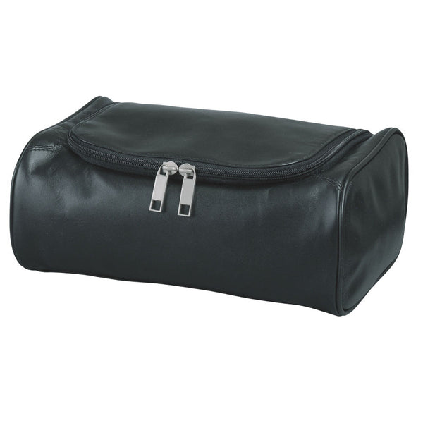 Busby Florida Slimline Leather Toiletry Bag | Black