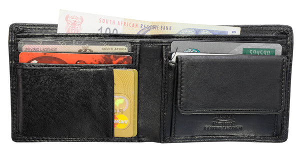 Busby Clinton Nappa Leather Wallet | Black
