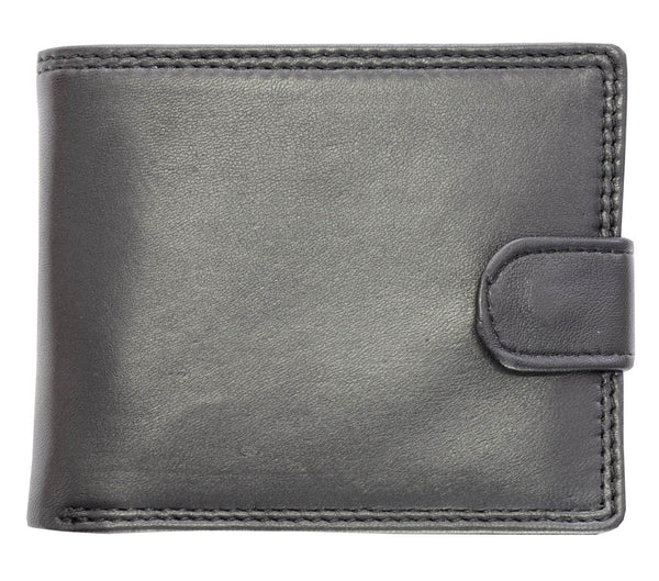 Busby Toledo Nappa Leather Tab Wallet | Black