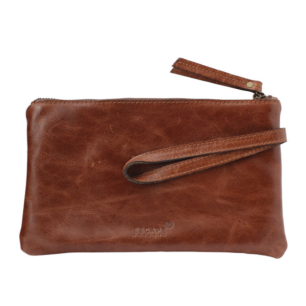 Escape Society Genuine Leather Travel Wallet | Brown - KaryKase