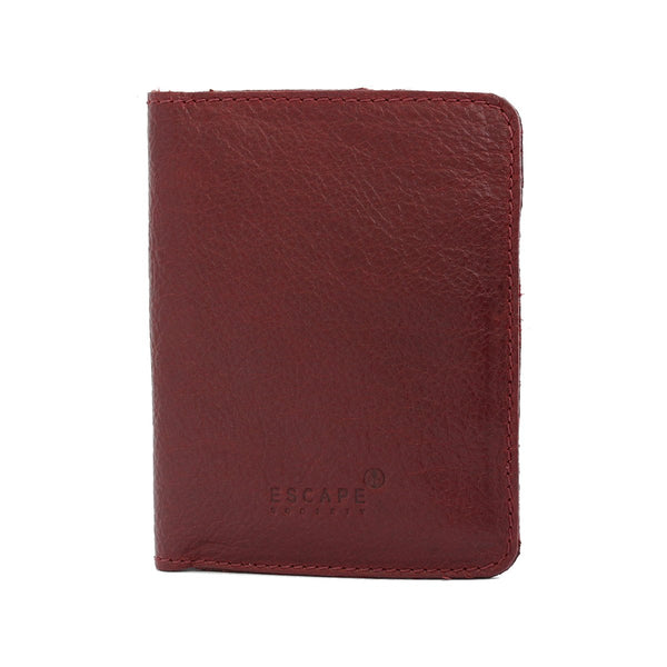 Escape Society Genuine Leather Passport Holder | Burgandy