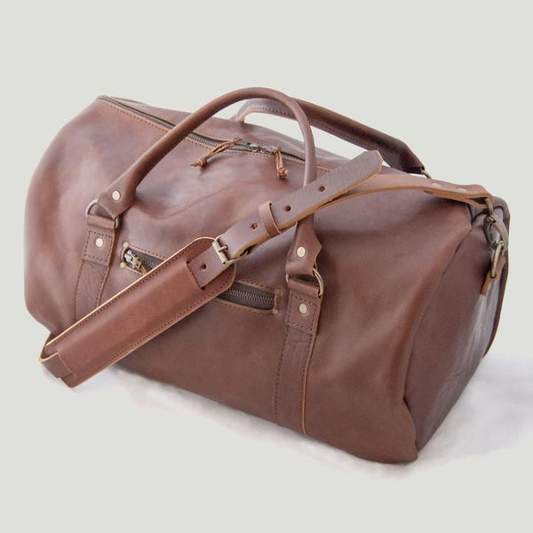 Bark And Mill Barrel bag | Chocolate - KaryKase