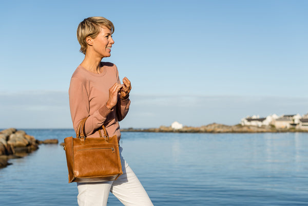 Zemp Bastille Grab and Go Handbag | Waxy Tan - KaryKase