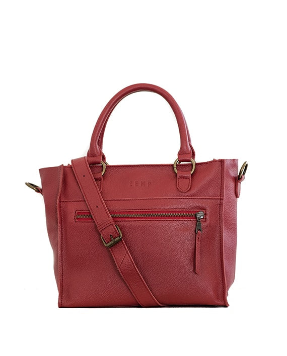 Zemp Bastille Grab and Go Handbag | Red - KaryKase