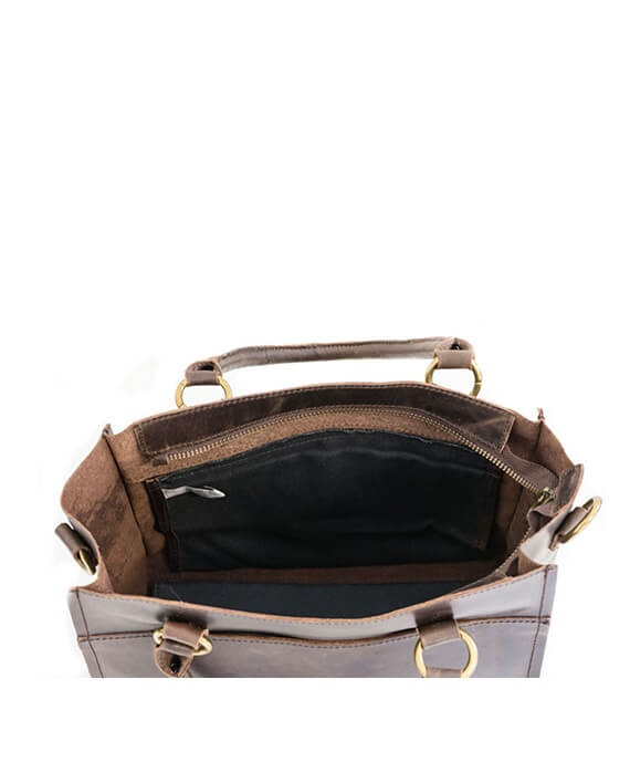 Zemp Bastille Grab and Go Handbag | Waxy Brown - KaryKase