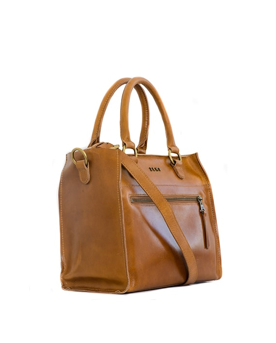 Zemp Bastille Grab and Go Handbag | Waxy Tan