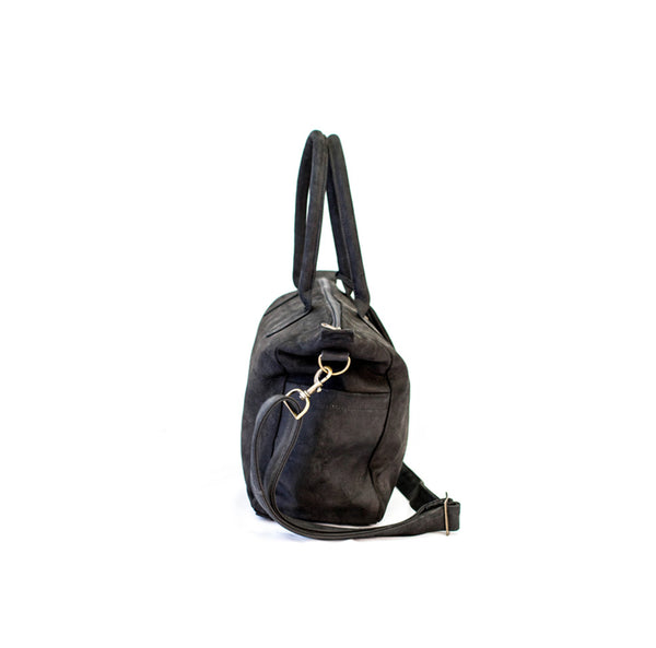 Mally Classic Leather Baby Bag | Black