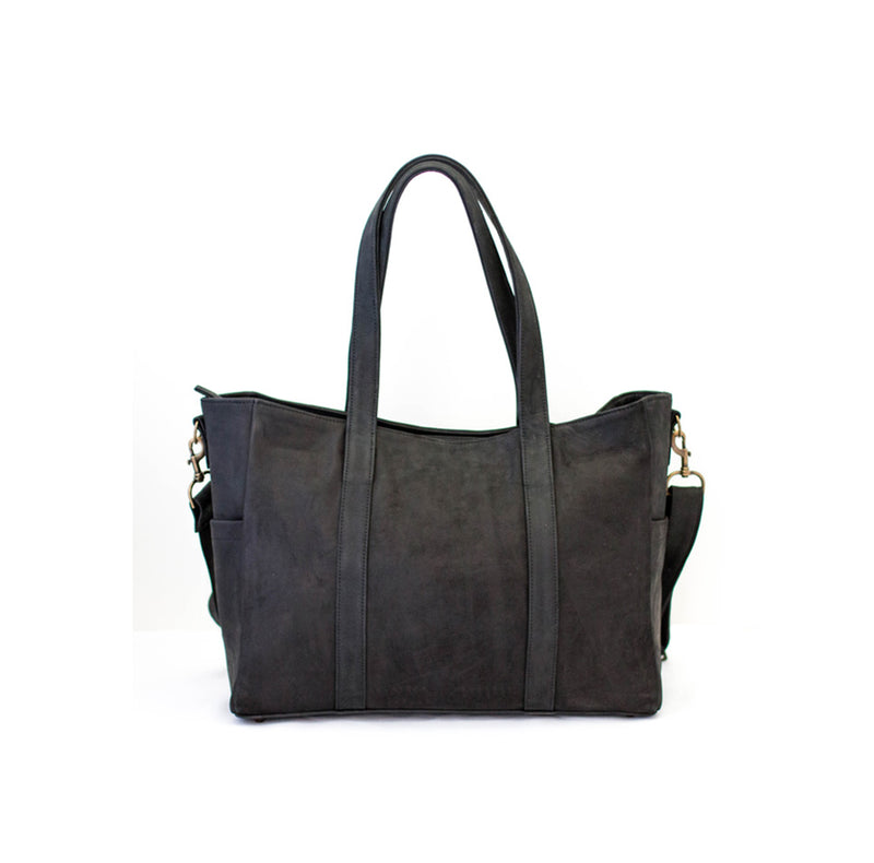 Mally Luxury Leather Baby Bag | Black - KaryKase