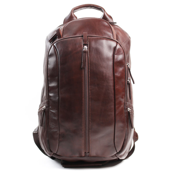 Nuvo Leather Boston Backpack | Brown - KaryKase