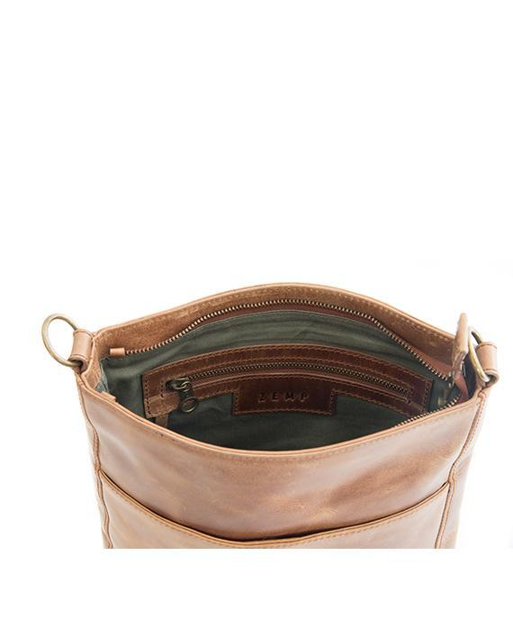 Zemp Boston Cross Body Bag | Waxy Tan - KaryKase