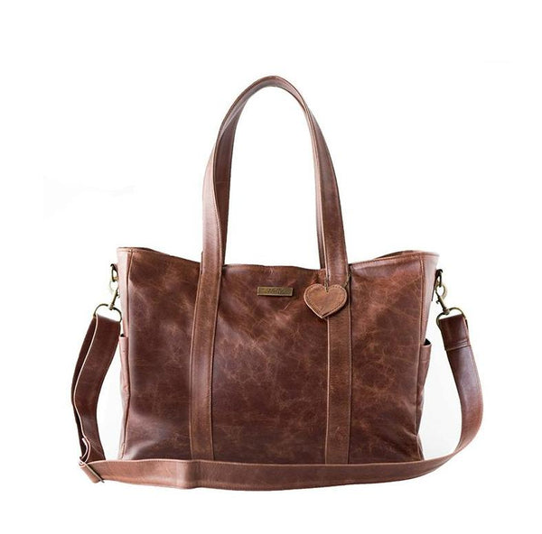 Mally Luxury Leather Baby Bag | Brown - KaryKase