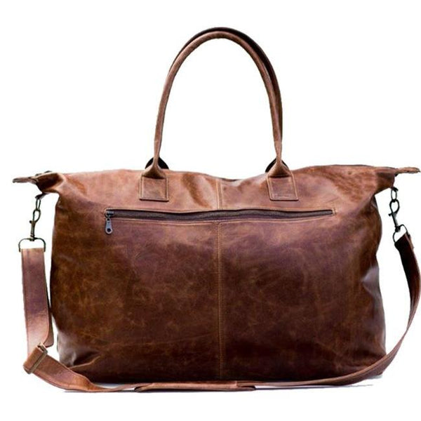 Mally Leather Weekender Bag | Brown