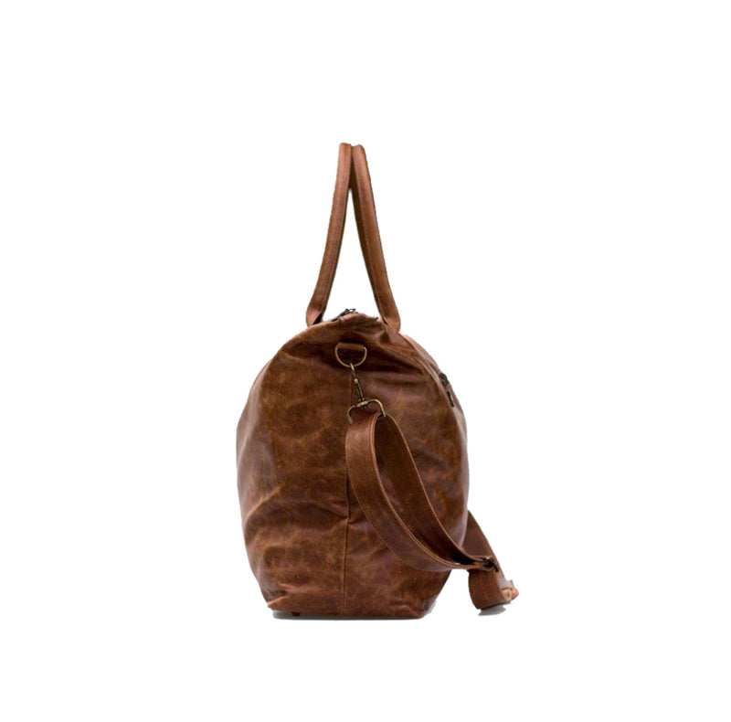 Mally Leather Weekender Bag | Brown - KaryKase