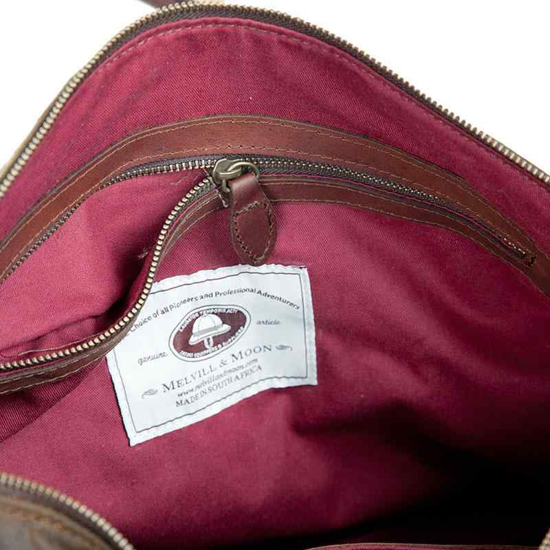 Melvill & Moon Waxed Cotton Bulawayo Duffel Bag | Brown - KaryKase