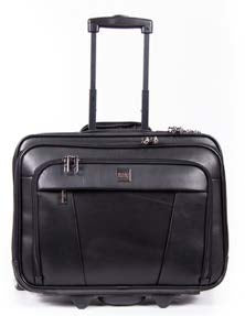 Busby Leather Busby Computer Trolley | Black