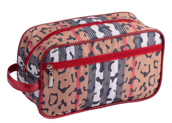 Caramia Catwalk Cosmetic Case L | Black/Red