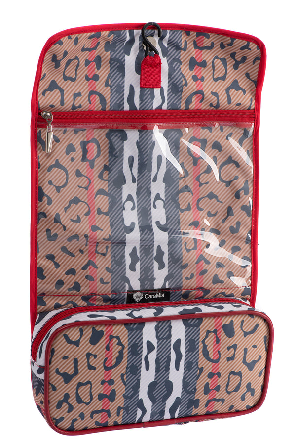Caramia Catwalk  Hanging Cosmetic Case | Black/Red