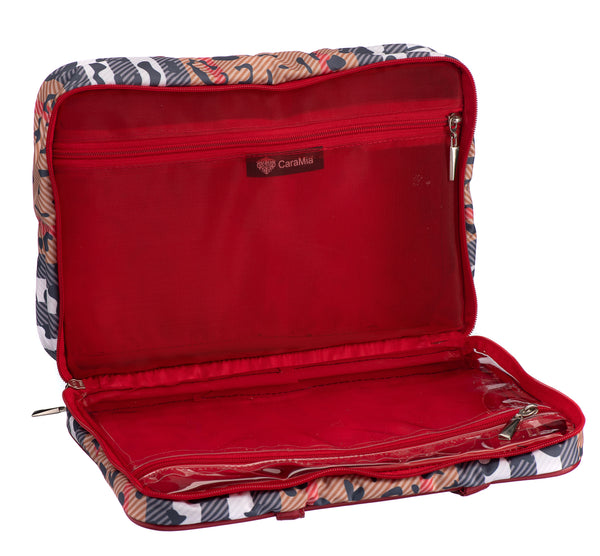 Caramia Catwalk Toiletry Bag M | Black/Red