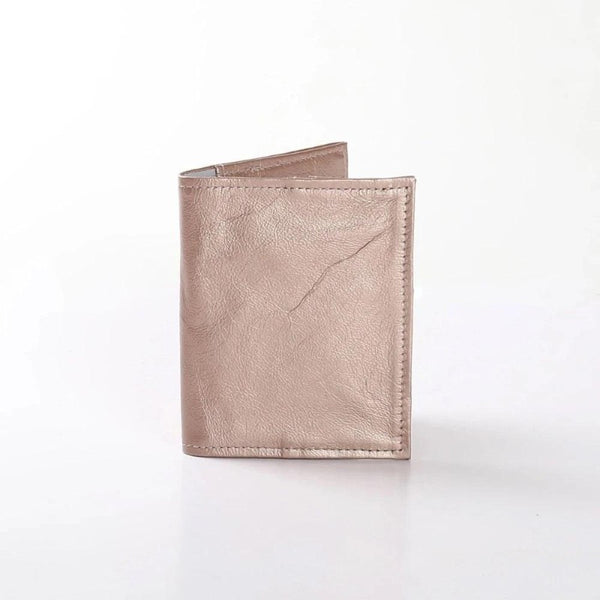 Thandana Metallic Leather Passport Holder - KaryKase