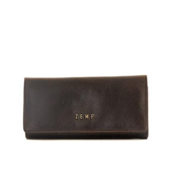 Zemp Claire 10 CC Wallet-Purse | Waxy Brown - KaryKase