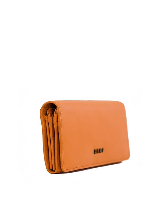 Zemp Claire 10 CC Wallet-Purse | Orange - KaryKase