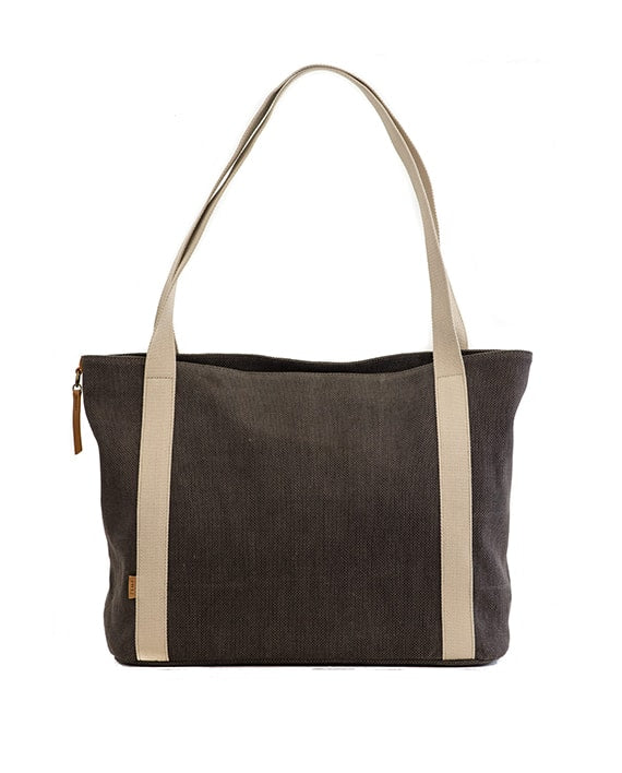 Zemp Clifton Large Shopper Bag | Charcoal - KaryKase