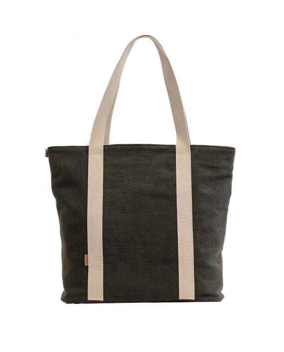 Zemp Clifton Medium Shopper Bag | Charcoal - KaryKase