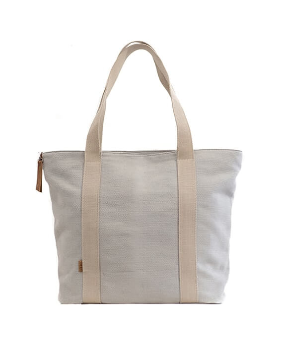 Zemp Clifton Medium Shopper Bag | Platinum - KaryKase
