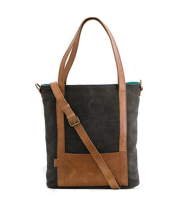 Zemp Coffee Bay Medium Shopper | Charcoal - KaryKase