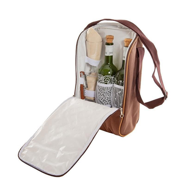 Yuppie Gift Baskets Cork Wine Cooler Bag | Brown - KaryKase