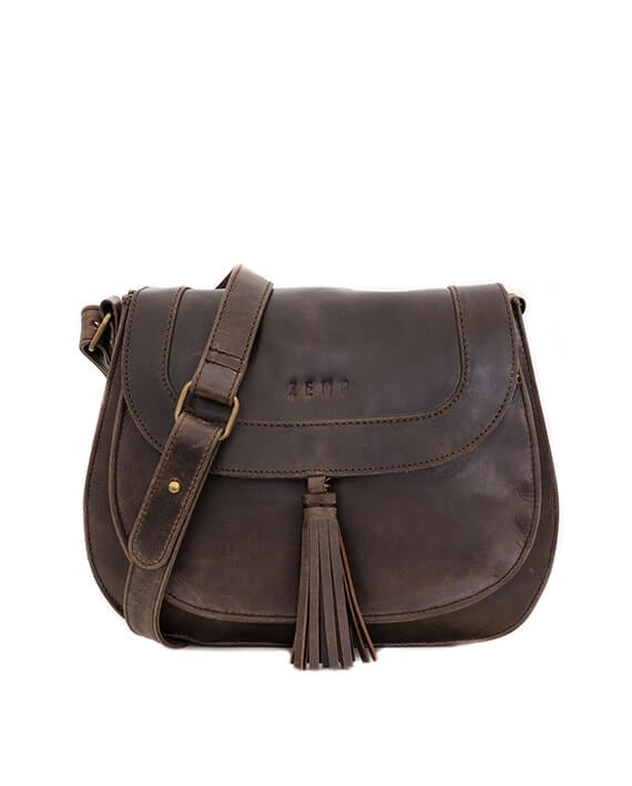 Zemp Cosima Cross Body Bag | Waxy Brown - KaryKase
