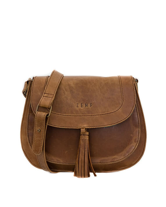 Zemp Cosima Cross Body Bag | Waxy Tan - KaryKase