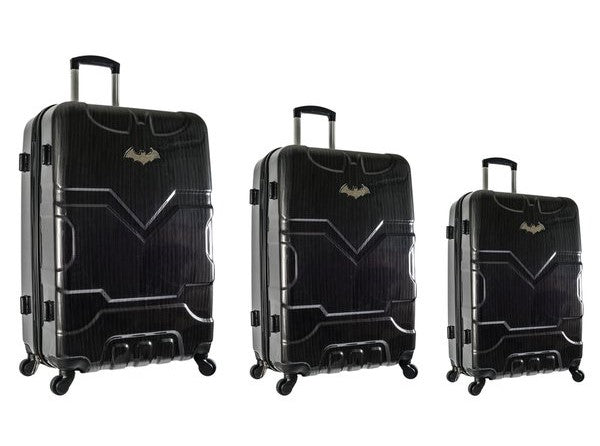 Travelwize Batman Series 3pc Spinner Set | Black - KaryKase