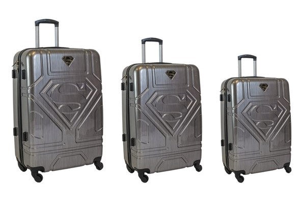 Travelwize Superman Series 3pc Spinner Set | Black - KaryKase