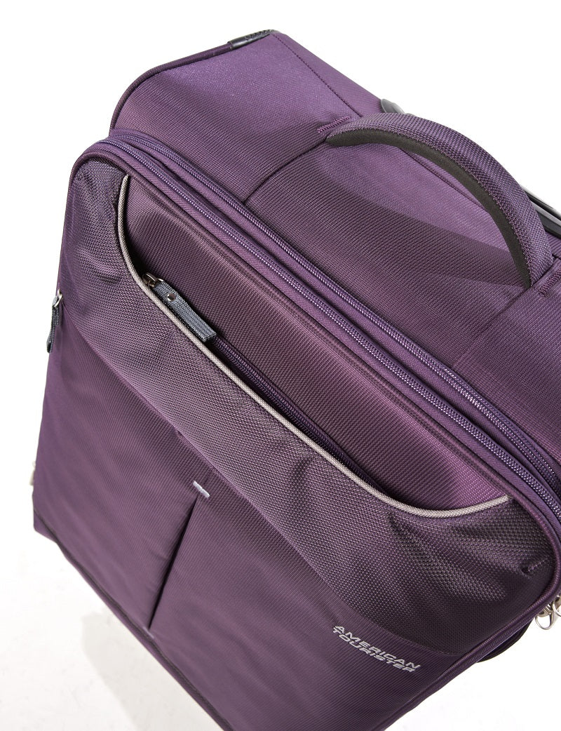 American Tourister Sky 82cm Large Spinner - Expandable | Purple/Grey - KaryKase
