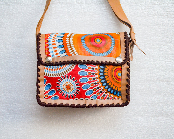 Mebala Handmade Sling Bag | Tan/OR Print