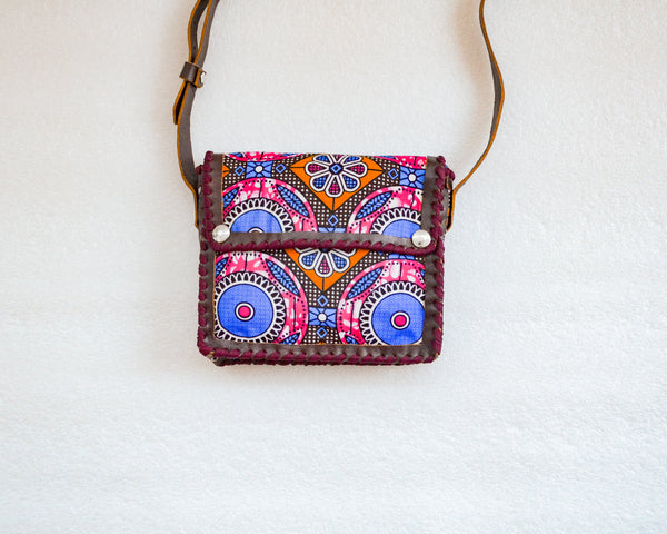 Mebala Handmade Sling Bag | Brown/BL Print