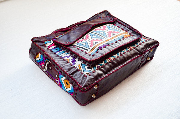 Mebala Handmade Laptop Bag | Brown/TR Print - KaryKase