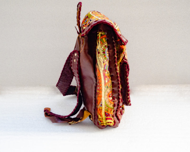 Mebala Handmade Casual Backpack | Brown/GY Print - KaryKase