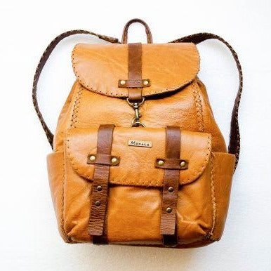 Mebala Handmade Boipelo Laptop Backpack | Tan - KaryKase