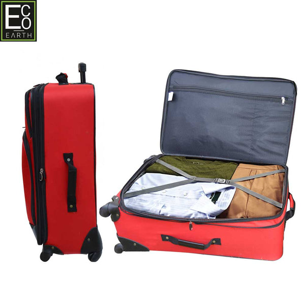 Eco Earth Barcelona 5 Piece Luggage Set | Red