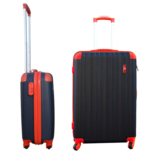 Eco Earth San Juan 2 Pc ABS Luggage Set | Black/Red
