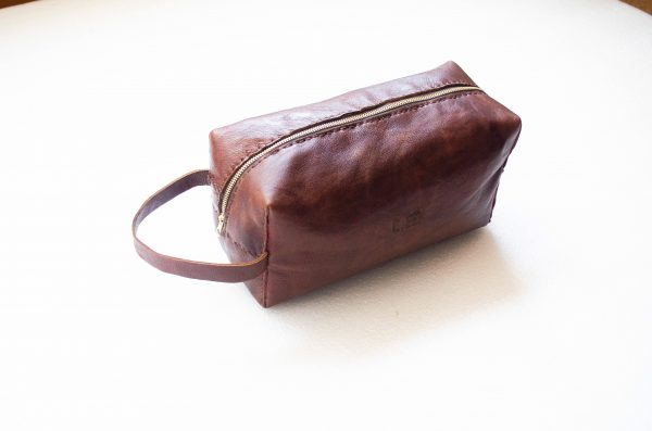 Mebala Handmade Timkudze Toiletry Bag | Brown - KaryKase